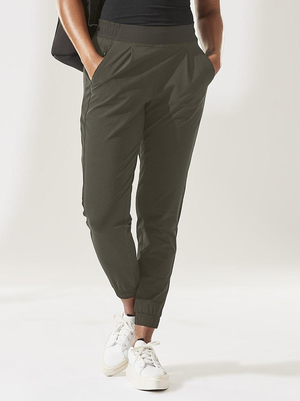 <p>The <span>Athleta Textured Brooklyn Jogger</span> ($40-$45, originally $98) is a solid choice for dog walks around the neighborhood or runs to the store (even when no <em>actual</em> running is involved). </p>