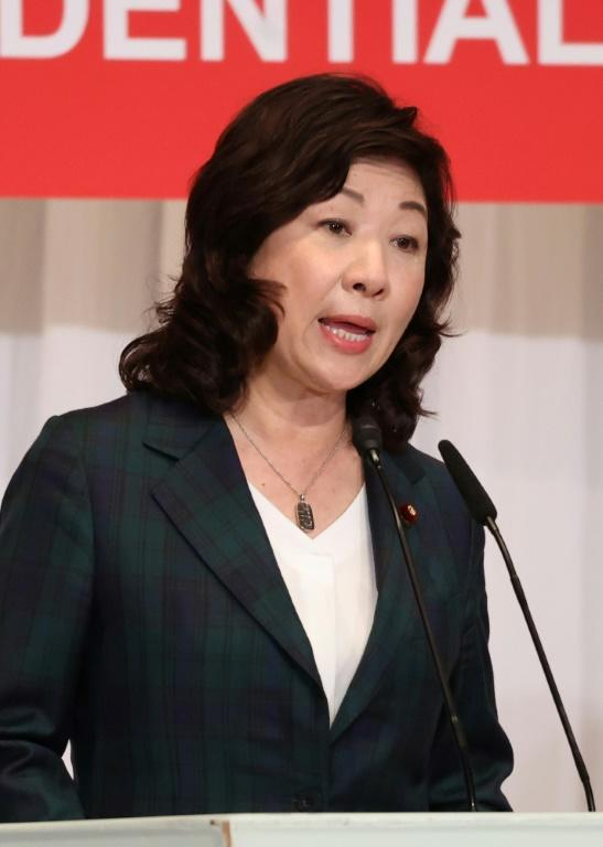 Former women's empowerment minister Seiko Noda jumped into the race a day before campaigning began (AFP/YOSHIKAZU TSUNO)