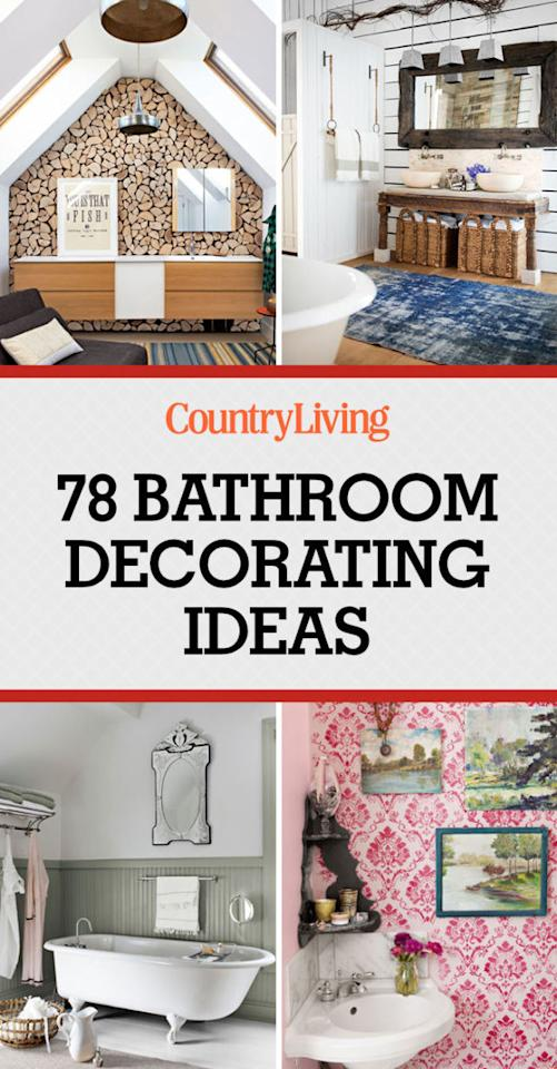 80 inspiring bathroom decorating ideas Home decor pinterest boards to follow