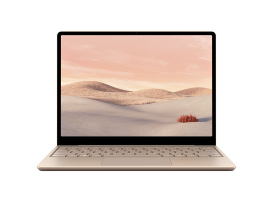 light pink microsoft laptop for high school, college, and university students