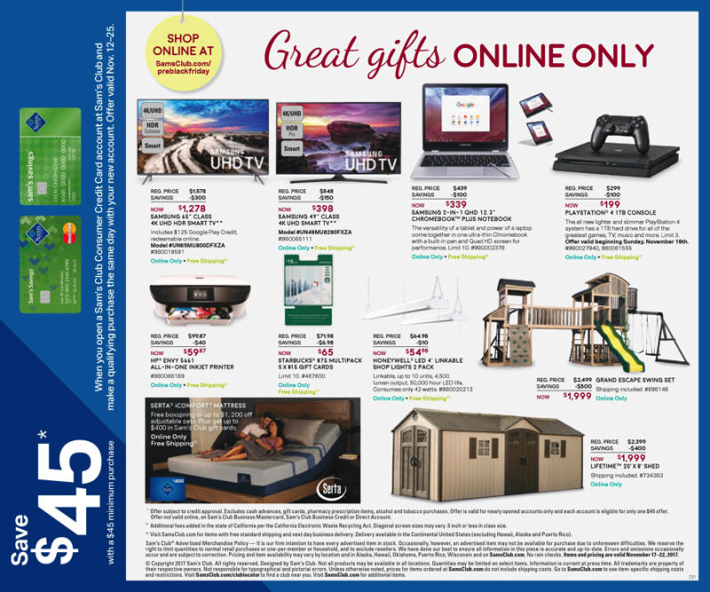 Now that the Sam's Club one-day pre-Black Friday sale is over, the company has released its Black Friday circular, which includes a number of TV deals. As in past years, the club's focus seems.