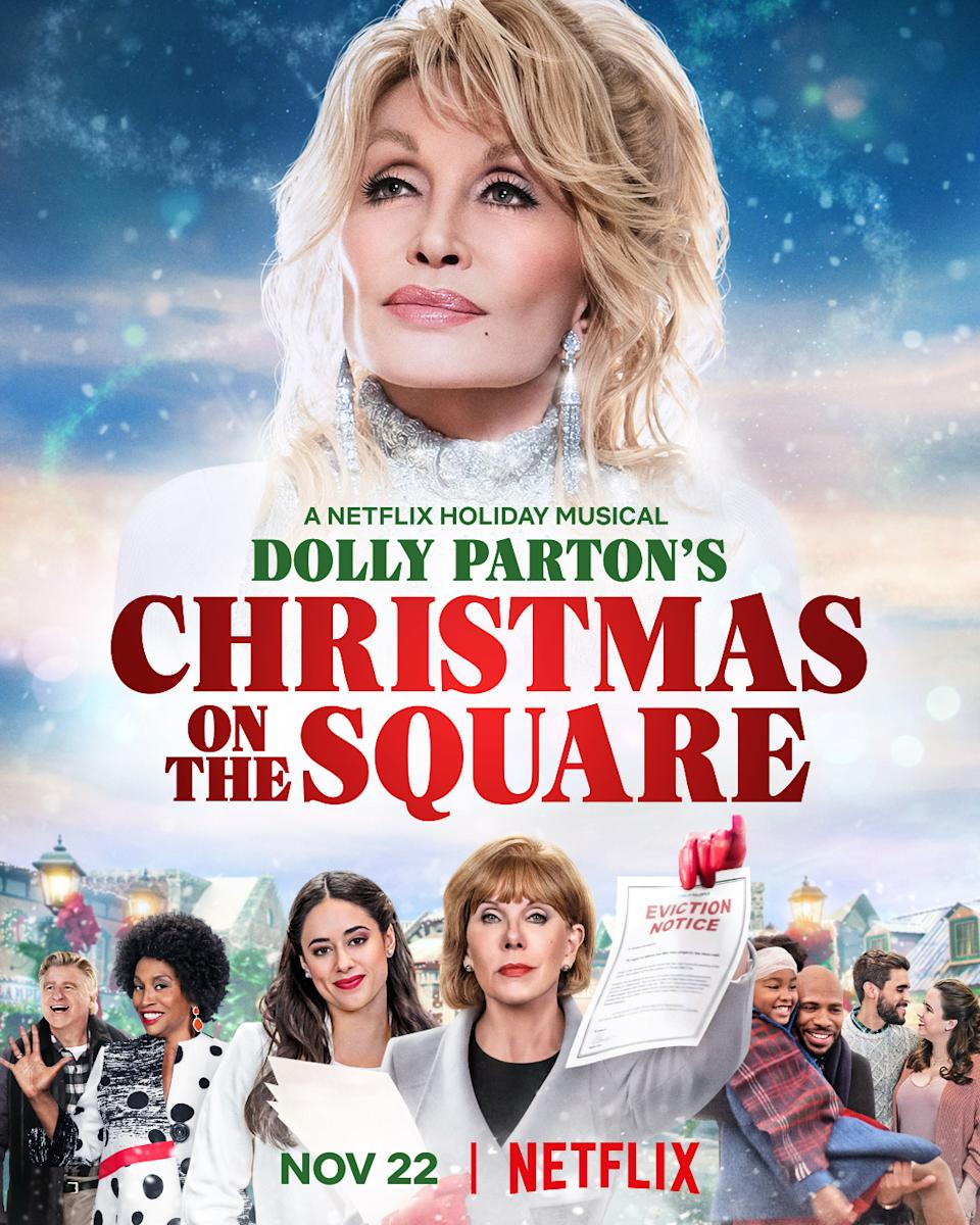 """Dolly Parton's Christmas on the Square"" poster"