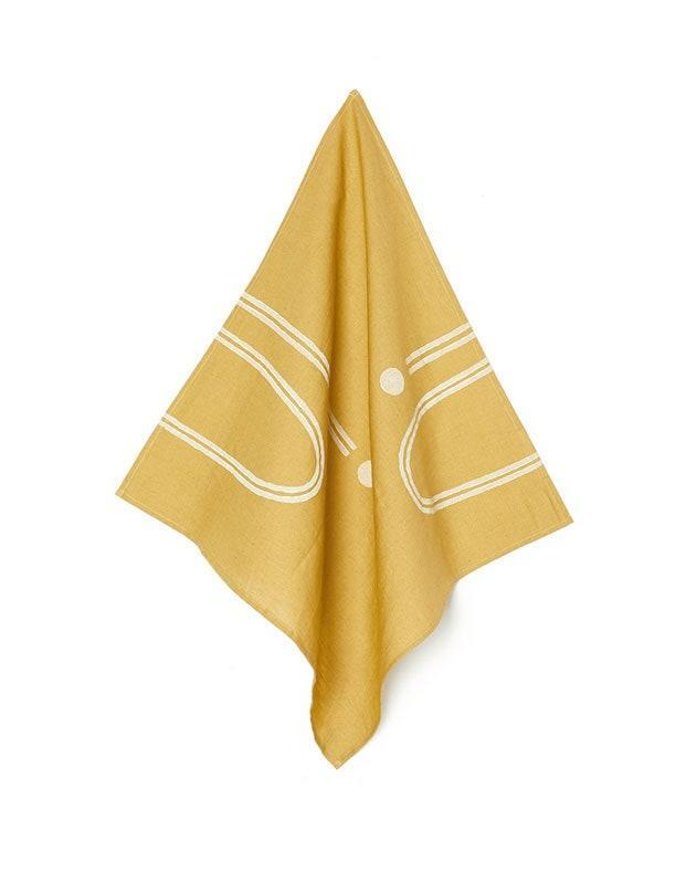 """If your friend's new space finally has room for a proper kitchen table or a dining room, you can't go wrong with new linen napkins. Kesslyr Dean's pieces are all handmade and ethically-sourced from around the world. $32, Verishop. <a href=""""https://www.verishop.com/kesslyr-dean/napkins/arch-block-print-napkin-set-of-2/p4354991095831?variant_id=31184925163543"""" rel=""""nofollow noopener"""" target=""""_blank"""" data-ylk=""""slk:Get it now!"""" class=""""link rapid-noclick-resp"""">Get it now!</a>"""