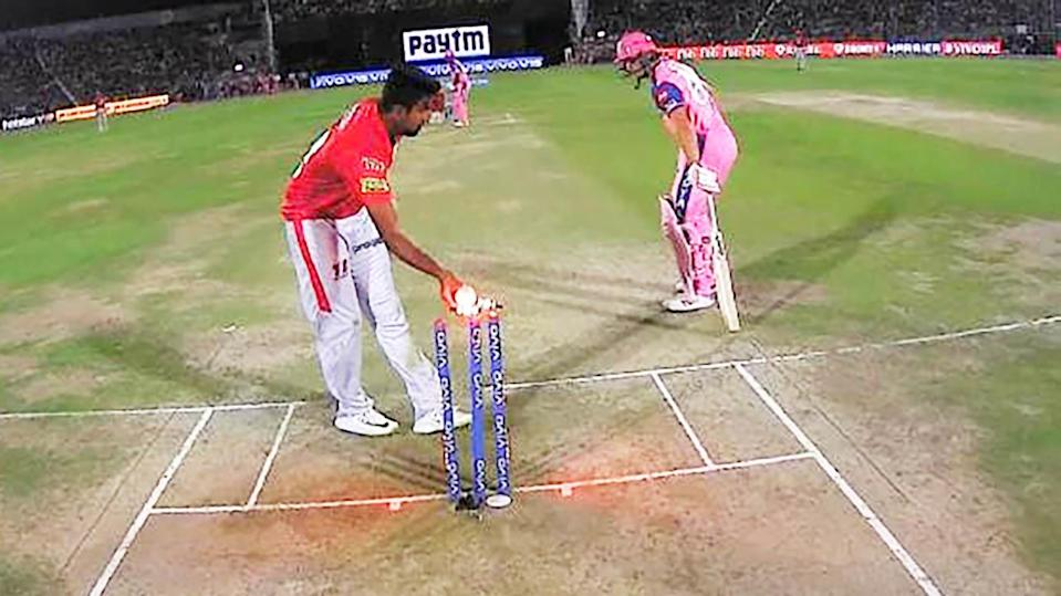 Buttler was found short of his crease. Image: IPL