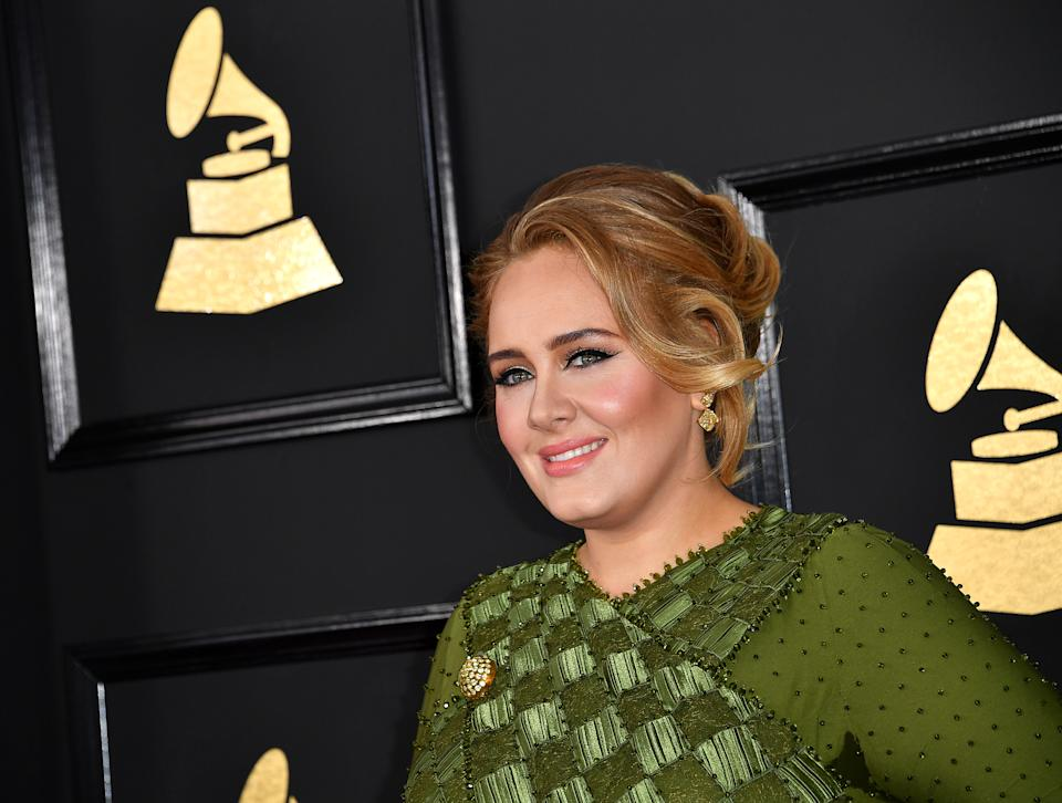 Adele arrives at the 59th Annual Grammy Awards at Staples Center on February 12, 2017 in Los Angeles, California. (Photo by Scott Kirkland/PictureGroup) *** Please Use Credit from Credit Field ***