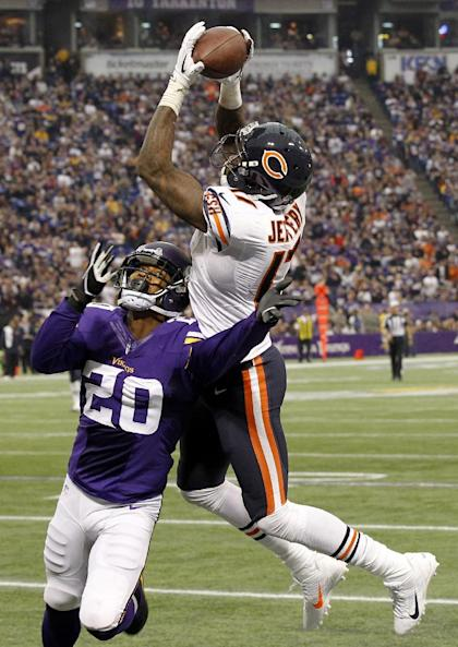 Alshon Jeffery hauling in a 46-yard TD. Just another impossible catch for No. 17. (AP Photo/Ann Heisenfelt)