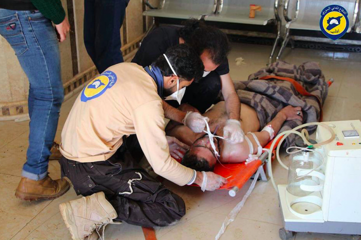 The chemical weapons incident killed children and babies in Syria (Rex)
