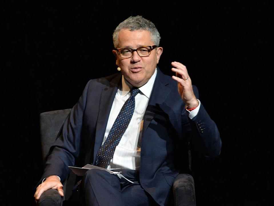 "Moderator Jeffrey Toobin, writer, The New Yorker attends the 2016 ""Tina Brown Live Media's American Justice Summit"" at Gerald W. Lynch Theatre on 29 January 2016 in New York City ((Getty Images))"
