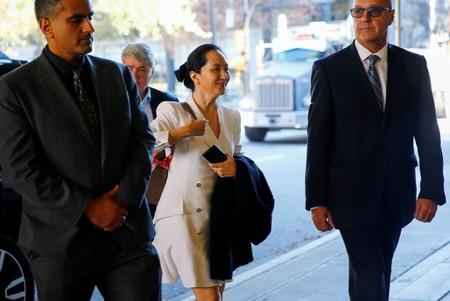 Huawei Technologies Chief Financial Officer Meng returns to British Columbia supreme court after a lunch break during a hearing in Vancouver