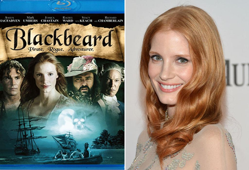 "<b>'Blackbeard'</b><br>Jessica Chastain hasn't always been an Oscar darling -- earning her second nomination this year for her role in ""Zero Dark Thirty."" It wasn't too long ago when she starred in a swashbuckling television miniseries ""Blackbeard"" (2006), playing the stereotypical <a target=""_blank"" href=""http://www.imdb.com/media/rm932614656/tt0472242"">damsel in distress</a>."