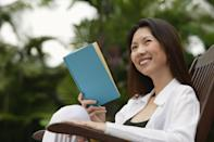 """Becoming the most interesting person at a cocktail party may be as simple as reading more books, which you tend to start doing in your 40s. According to <a href=""""https://www.bls.gov/opub/ted/2018/people-age-65-and-older-more-likely-than-younger-people-to-read-for-personal-interest.htm"""" rel=""""nofollow noopener"""" target=""""_blank"""" data-ylk=""""slk:2018 data from the Bureau of Labor Statistics"""" class=""""link rapid-noclick-resp"""">2018 data from the Bureau of Labor Statistics</a>, men and women in their 40s and 50s spend more time on an average day reading for pleasure than those younger than them. And that interest in reading only continues to grow thereafter!"""