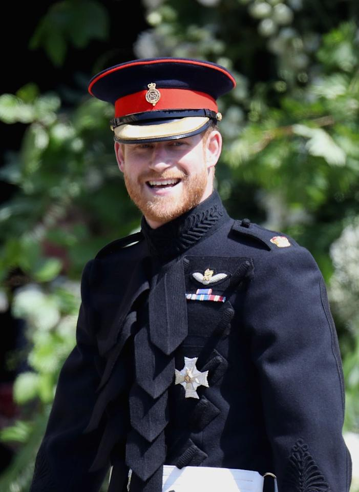 "<p>Prince Harry surprised even those in his own wedding party by showing up on the big day wearing his military uniform instead of a traditional tux. After getting the blessing of his grandmother, <a href=""https://admin.thefashionball.com/celebrity/royal-outfits-hidden-meanings-tw/"" target=""_blank"">Harry wore ribbons,</a> which are awarded for the work that he's done, rather than an aiguillette, which is given out based on honor. </p>"