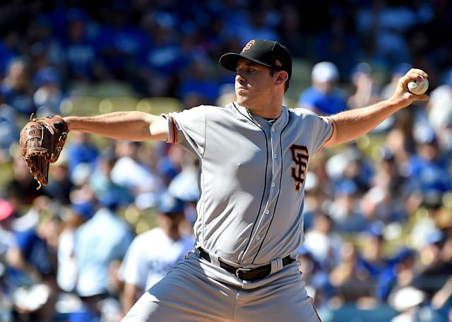 Ty Blach defeated Clayton Kershaw on opening day. (Getty Images)