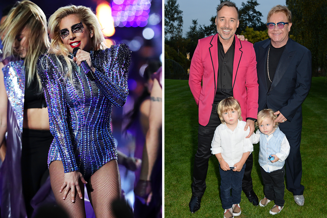 """<p>Gaga is godmother to both of Elton John's young sons, Elijah and Zachary. """"She's a great role model, she's young, [and] she's been a great godmother to Zachary . . . We're all bonkers in this business, but we're human beings at the same time,"""" John told <em>Glamour U.K.</em> after he and husband David Furnish named the singer their second son's godmother in 2013.</p>"""