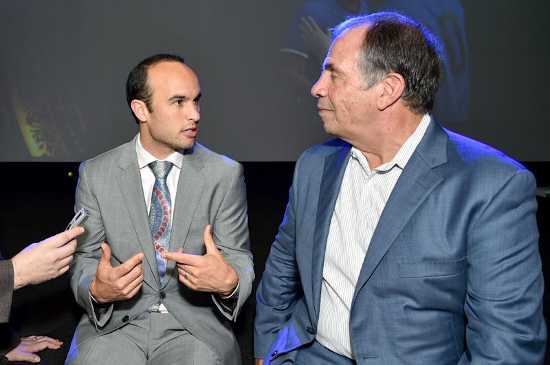 Landon Donovan spent well over a decade playing for Bruce Arena, one of the best American soccer managers in history. (Photo by Mike Coppola/Getty Images for FOX Sports')
