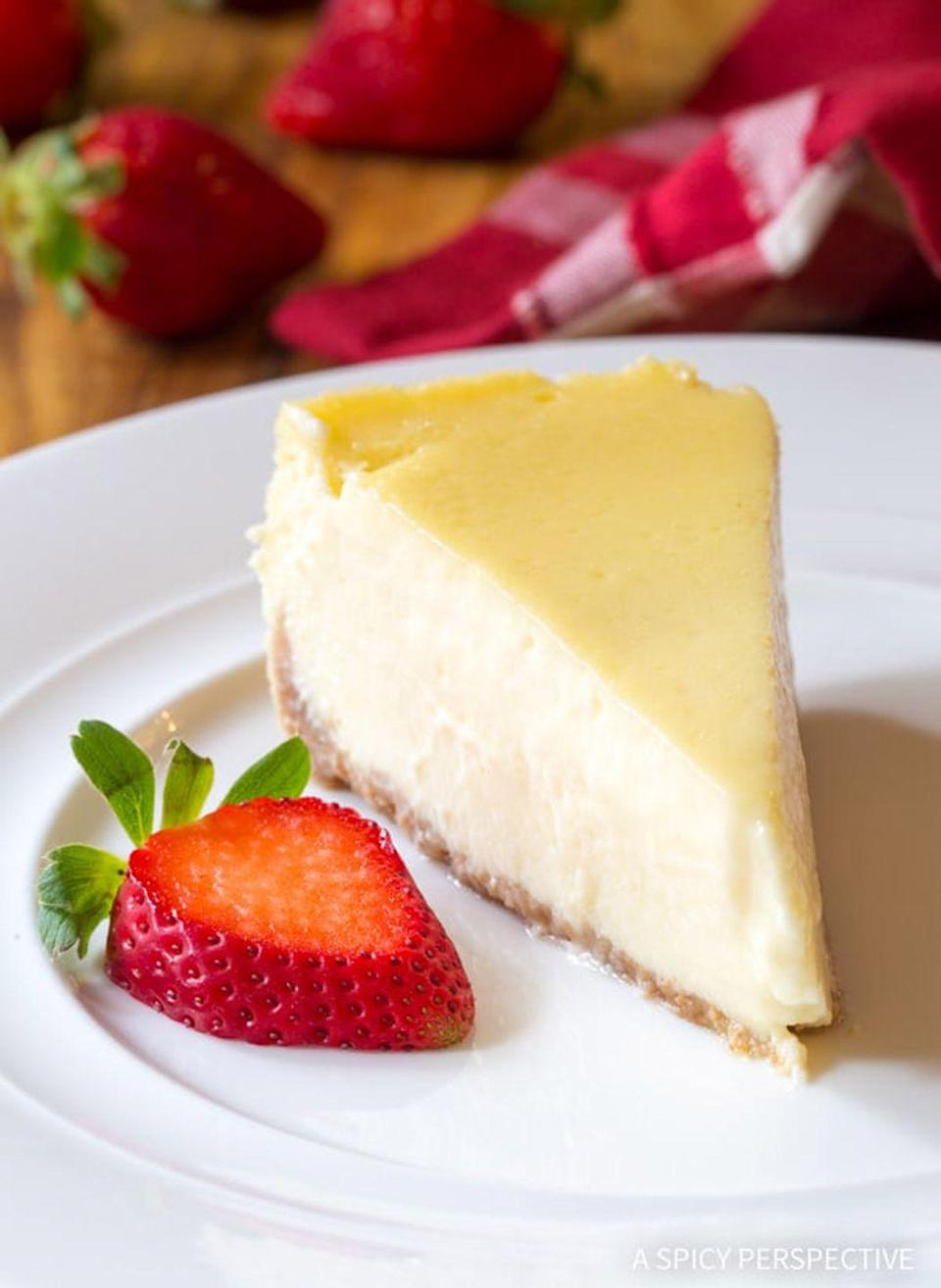 """<p>Believe it or not, you can make the most perfect New York style cheesecake right in your slow cooker.</p><p><strong>Get the recipe at <a href=""""https://www.aspicyperspective.com/perfect-slow-cooker-cheesecake/"""" rel=""""nofollow noopener"""" target=""""_blank"""" data-ylk=""""slk:A Spicy Perspective"""" class=""""link rapid-noclick-resp"""">A Spicy Perspective</a>.</strong><br></p>"""