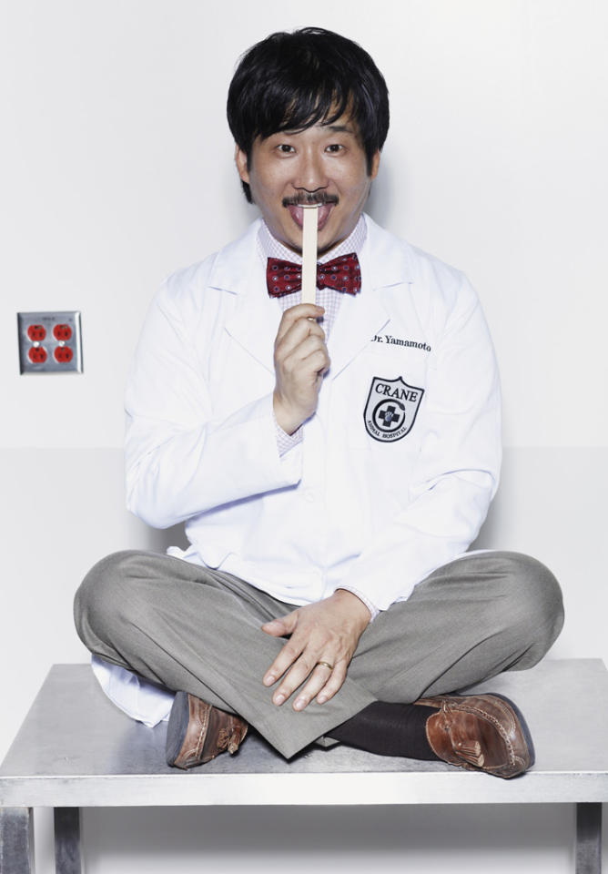 """Bobby Lee stars as Dr. Yamamoto in """"Animal Practice"""" on NBC."""