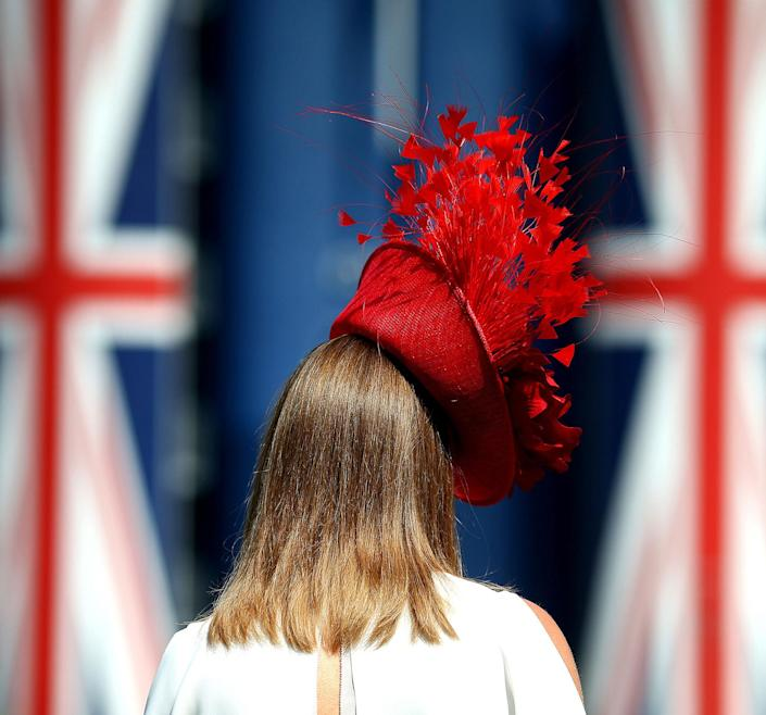 <p>A spectator makes their way to the grandstand during day 2 of Royal Ascot at Ascot Racecourse on June 21, 2017 in Ascot, England. (Charlie Crowhurst/Getty Images for Ascot Racecourse) </p>