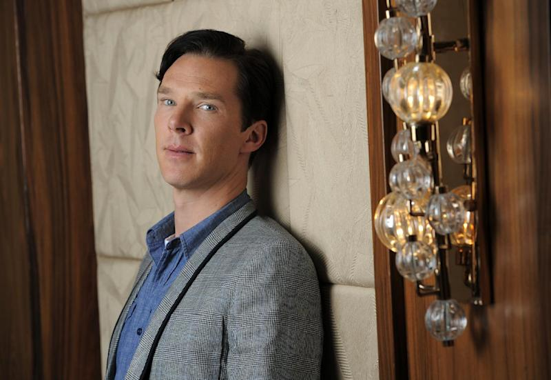 "This Sept. 8, 2013 photo shows actor Benedict Cumberbatch at the 2013 Toronto International Film Festival in Toronto. Cumberbatch stars as WikiLeaks founder Julian Assange in""The Fifth Estate,"" in theaters on Oct. 18. (Photo by Chris Pizzello/Invision/AP)"