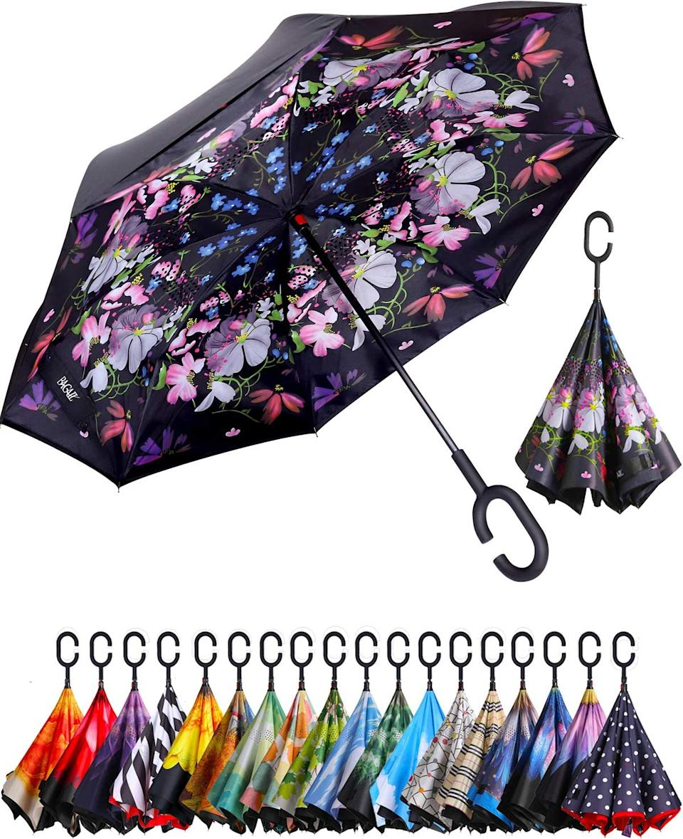 Double Layer Inverted Umbrella. Image via Amazon.