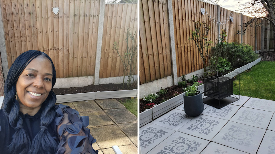 Viv Wilks has impressed with her purse-friendly patio-makeover. (Latestdeals.co.uk)