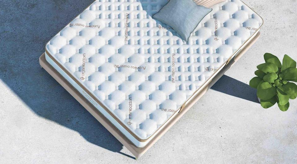 """<p><strong>Loom & Leaf Mattress</strong></p><p>saatva.com</p><p><strong>$89.00</strong></p><p><a href=""""https://go.redirectingat.com?id=74968X1596630&url=https%3A%2F%2Fwww.saatva.com%2Fmattresses%2Floom-and-leaf&sref=https%3A%2F%2Fwww.veranda.com%2Fluxury-lifestyle%2Fg36531021%2Fmemorial-day-sales-2021%2F"""" rel=""""nofollow noopener"""" target=""""_blank"""" data-ylk=""""slk:Shop Now"""" class=""""link rapid-noclick-resp"""">Shop Now</a></p><p>Saatva's popular mattresses are on sale now for the long weekend, so get to shopping the deals while you can. Through Monday, score $200 off a mattress purchase of $985 or more. </p>"""