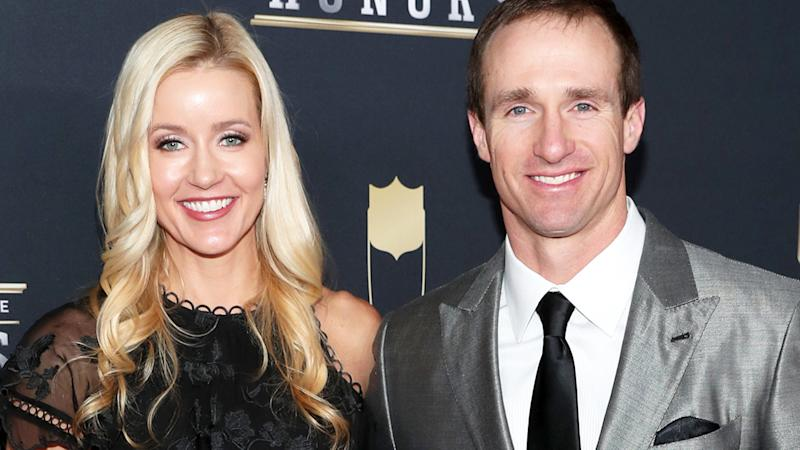 Brittany and Drew Brees, pictured here at the NFL Honours in 2018.