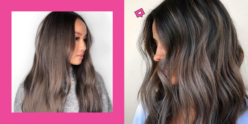 """<p class=""""body-dropcap"""">Scroll through your Instagram right now, and I guarantee you'll see it filled with ash-brown hair. Defined by its brunette base with green, blue, and/or violet undertones, ash-brown hair is on its way to becoming one of the biggest <a href=""""https://www.cosmopolitan.com/style-beauty/beauty/g34828921/2021-hair-color-trends/"""" rel=""""nofollow noopener"""" target=""""_blank"""" data-ylk=""""slk:colors of 2021"""" class=""""link rapid-noclick-resp"""">colors of 2021</a>, and for good reason: It's basically the antithesis to the warm shades you see all spring and summer—in, like, the best way possible. """"Whereas warm brunette shades look lighter and richer,<strong> ash-brown colors are usually deeper with a smoky, matte-like finish</strong>,"""" says <a href=""""https://www.instagram.com/ninarubelhair/?hl=en"""" rel=""""nofollow noopener"""" target=""""_blank"""" data-ylk=""""slk:Nina Rubel"""" class=""""link rapid-noclick-resp"""">Nina Rubel</a>, colorist at <a href=""""https://www.instagram.com/robpeetoomnyc/"""" rel=""""nofollow noopener"""" target=""""_blank"""" data-ylk=""""slk:Rob Peetoom"""" class=""""link rapid-noclick-resp"""">Rob Peetoom</a> in NYC. </p><p>And if you're anything like me, you've probably already convinced yourself three times this week that it's time to try ash-brown hair yourself. But before you book that appointment—because, yes, <strong>ash-brown hair <em>requires</em> the help of a professional colorist</strong>—keep reading for a few things you gotta know. Plus, 20 super-pretty ideas to kickstart your inspo.</p><h2 class=""""body-h2"""">Before you try ash brown hair...</h2><h3 class=""""body-h3"""">1. Think about skin tone</h3><p>""""When choosing any hair color, it's always important to take your <a href=""""https://www.cosmopolitan.com/style-beauty/beauty/advice/a5119/find-your-undertone/"""" rel=""""nofollow noopener"""" target=""""_blank"""" data-ylk=""""slk:skin tone"""" class=""""link rapid-noclick-resp"""">skin tone</a> into account,"""" says Rubel. A good rule of thumb? Cooler colors (like ash brown) generally work best on cooler skin tones, w"""
