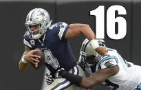 <p>It's going to be tough for Dak Prescott. He has no help at receiver or tight end, and that's inexcusable given how little cap space the Cowboys are allocating to their quarterback. (Dak Prescott) </p>