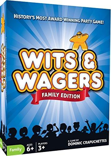 North Star Games Wits & Wagers Board Game | Family Edition, Kid Friendly Party Game and Trivia (Amazon / Amazon)