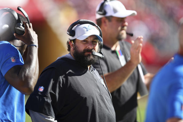 Detroit Lions head coach Matt Patricia wanted everyone to know why his team practiced in the snow this week. (AP)