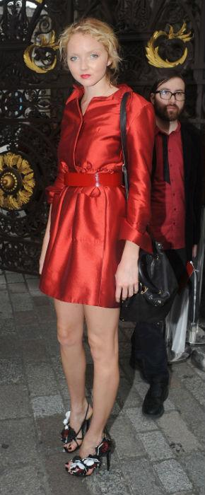 Lily Cole Vs. Stella McCartney In Team GB Colours At Royal Academy Of Arts!