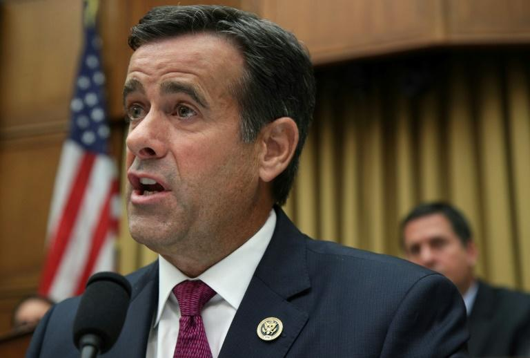 US President Donald Trump says he plans to nominate Representative John Ratcliffe as the next Director of National Intelligence (AFP Photo/ALEX WONG)