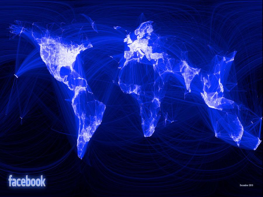 Facebook Users. Slowly But Surely, The Non-Anglophone World Catches Up.