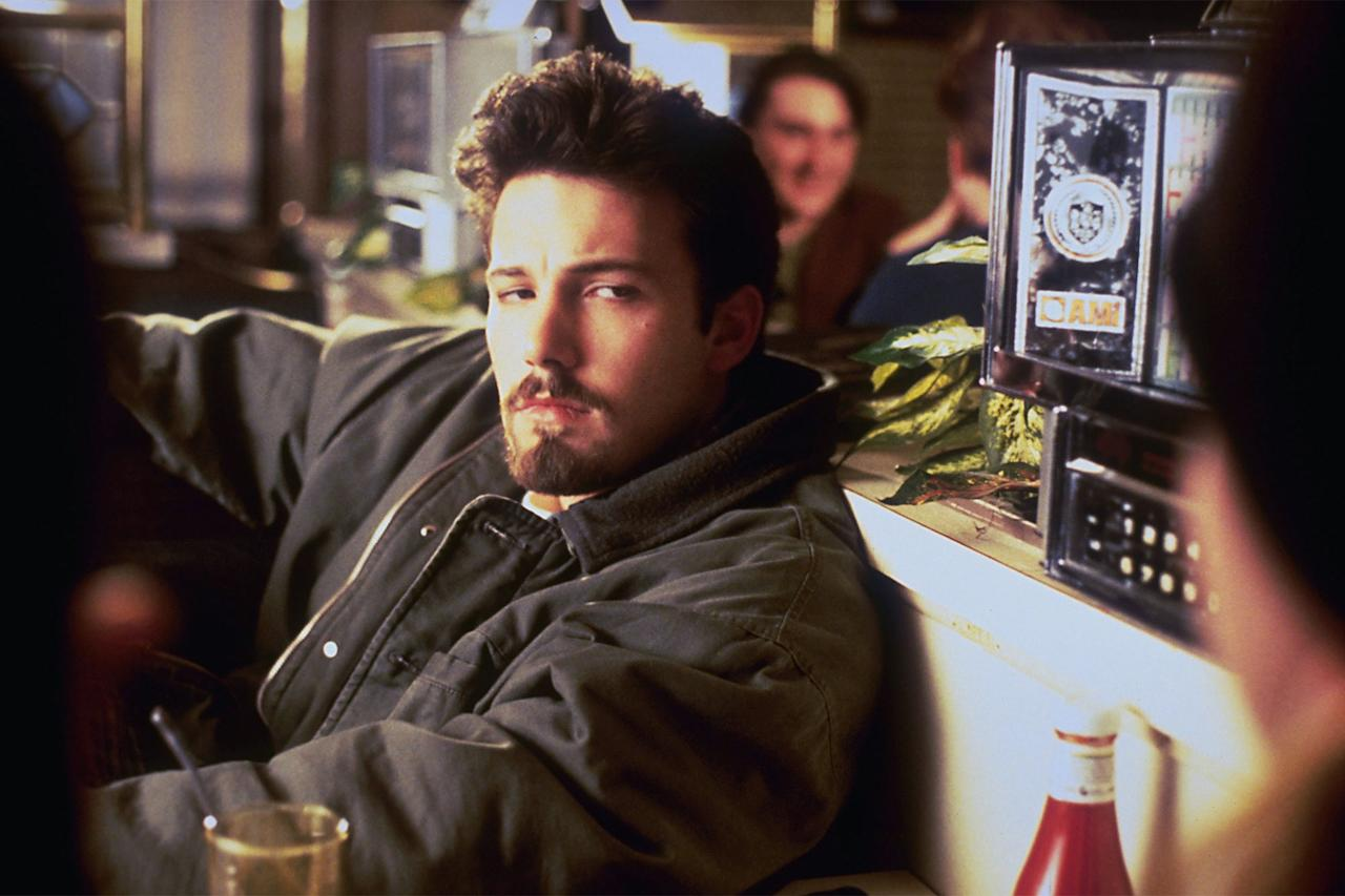 """<strong>Kevin Smith</strong> based <em>Chasing Amy</em>, in part, on his real-life relationship with star <strong>Joey Lauren Adams</strong> and cast Affleck as Holden, a quick-witted, sexually conservative avatar of the filmmaker himself. Hey, it was the '90s. But even today, the movie works better than it should. The chemistry Affleck shares with Adams is undeniable, and while the <a href=""""https://www.buzzfeednews.com/article/shannonkeating/chasing-amy-20-years-later"""">sexual politics</a> of <em>Chasing Amy</em> remains a source of discussion even 23 years after its release, Smith does a good job of making sure Holden, even with the best intentions, is always the fool."""