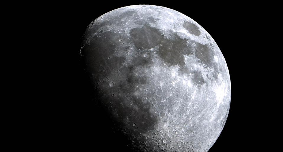A photograph of the moon against the night sky.
