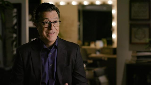 Stephen Colbert shares his memories of starring in <em>The Dana Carvey Show</em> in <em>Too Funny to Fail.</em> (Photo: Hulu)