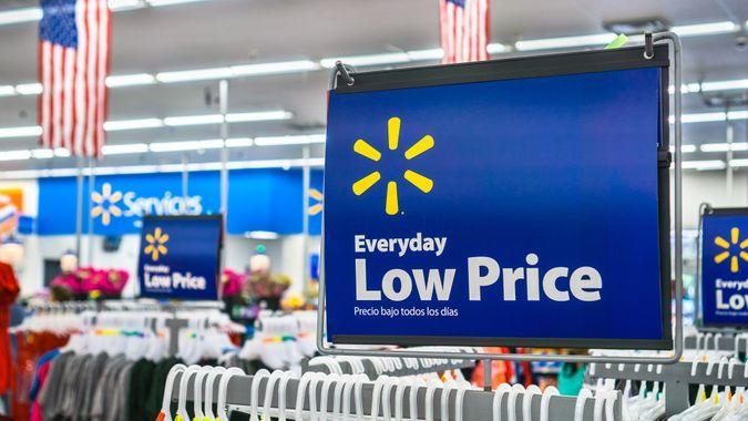 Everyday Low Price in Walmart store