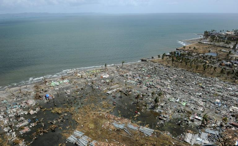 The Philippines, parts of which were devastated by Super Typhoon Haiyan in November 2013 as seen in this file photo, is among the world's top 10 countries most affected by extreme weather events