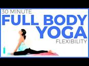 """<p>Take a break from sitting all day and treat your body to some sun salutations, hip openers, and twists in this flow yoga class from Sarah Beth Yoga. The clear and calm narration will keep you focused on your practice, and it provides modification options for all levels.</p><p><a href=""""https://www.youtube.com/watch?v=Pz5sO8b9G2o"""" rel=""""nofollow noopener"""" target=""""_blank"""" data-ylk=""""slk:See the original post on Youtube"""" class=""""link rapid-noclick-resp"""">See the original post on Youtube</a></p>"""