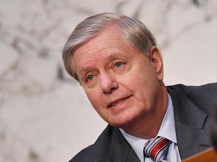 <p>Senate Judiciary Chairman Lindsey Graham has repeatedly argued against the need for any witnesses at all during the ex-president's impeachment trial</p> (EPA)
