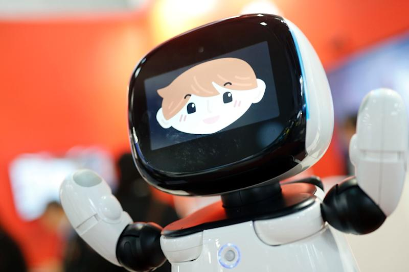 """Robots can look humanoid """"only if it's totally necessary to the task,"""" said Pasquale (AFP Photo/Pau Barrena)"""