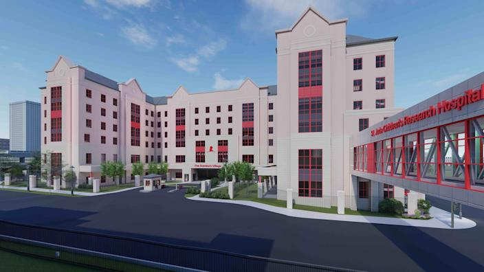 A rendering of The Domino's Village. Domino's provided St. Jude Children's Research Hospital with the largest commitment in its history to help fund the facility, which will include apartments for patients and their families.