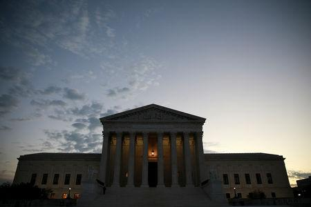 The exterior of the U.S. Supreme Court building in Washington