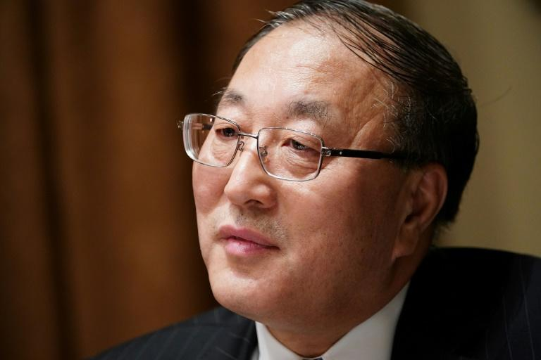 Chinese representative to the UN Zhang Jun, seen here in December 2019, is among diplomats voicing doubt about US threats to trigger UN sanctions on Iran (AFP Photo/MANDEL NGAN)