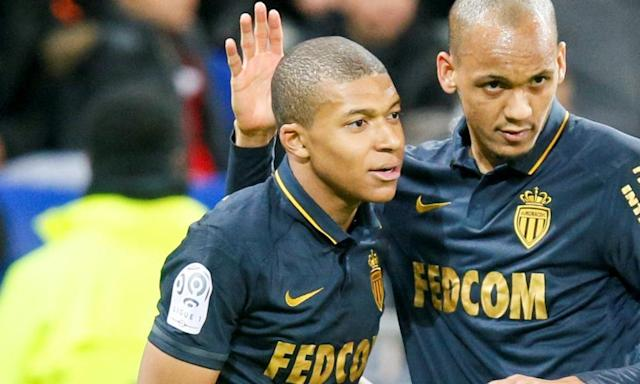 "<span class=""element-image__caption"">Kylian Mbappé, left, is setting all kinds of rumour hearts fluttering.</span> <span class=""element-image__credit"">Photograph: Robert Pratta/Reuters</span>"