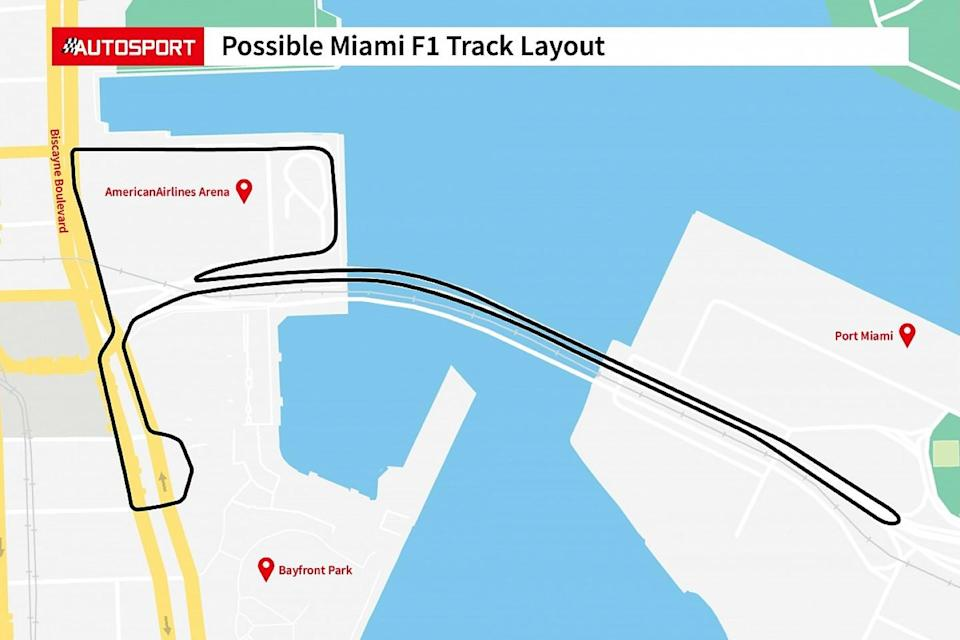 Lewis Hamilton is not keen on the proposed Miami track layout. (Via Autosport)