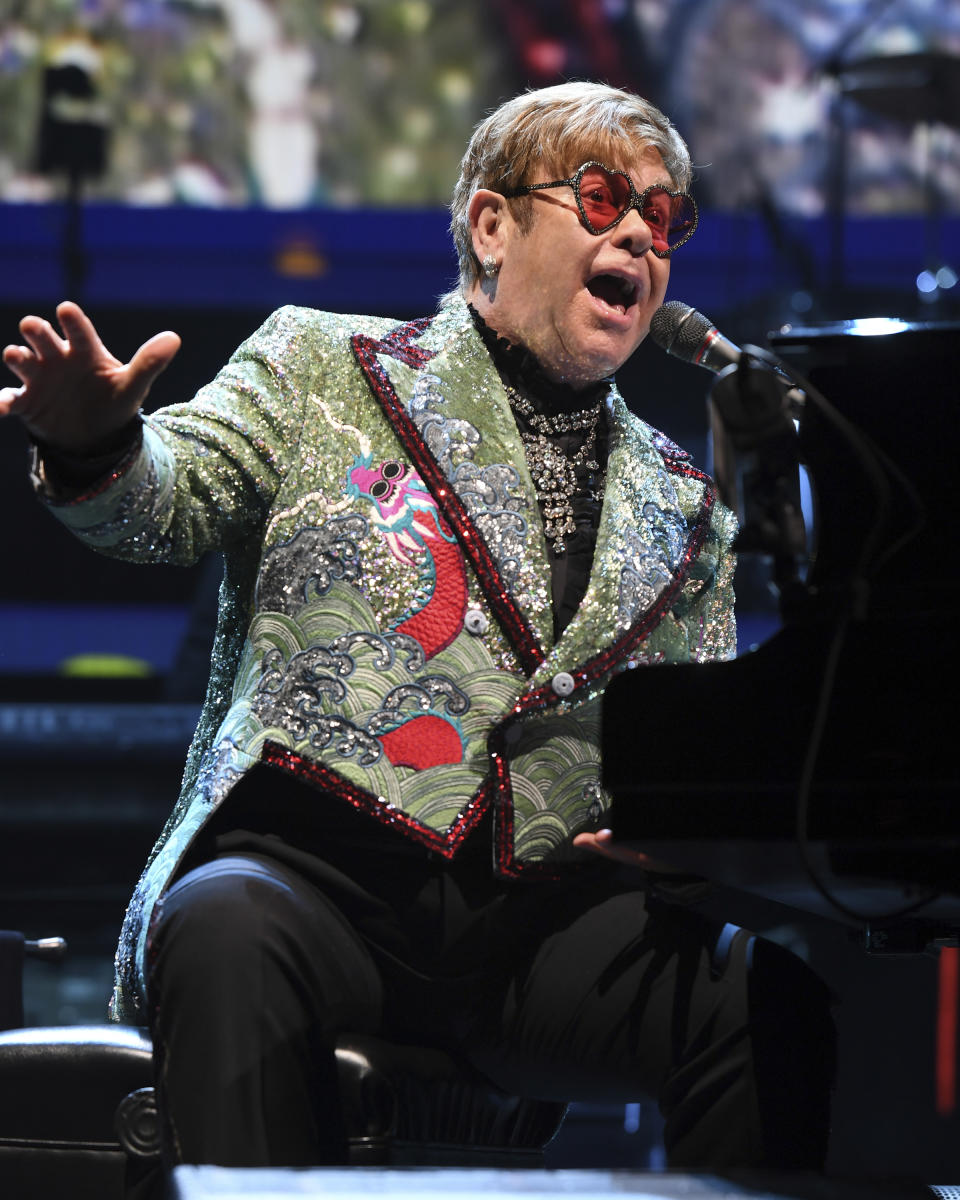 Sir Elton John performs during his 'Farewell Yellow Brick Road' tour at The BB&T Center on November 23, 2018 in Sunrise, Florida. Credit: mpi04/MediaPunch /IPX