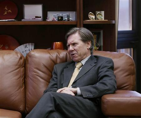 Chief Judge Randall Rader of the United States Court of Appeals for the Federal Circuit sits in his chambers in Washington