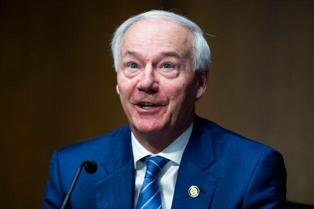 Arkansas Gov. Asa Hutchinson (R) testifies during a Senate Judiciary Committee hearing in June. He said this week that he regretted signing a law to ban mask mandates in his state. (Photo: Tom Williams via Getty Images)
